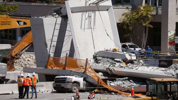 'There's a lot of cars trapped': Authorities release 911 calls from Florida bridge collapse