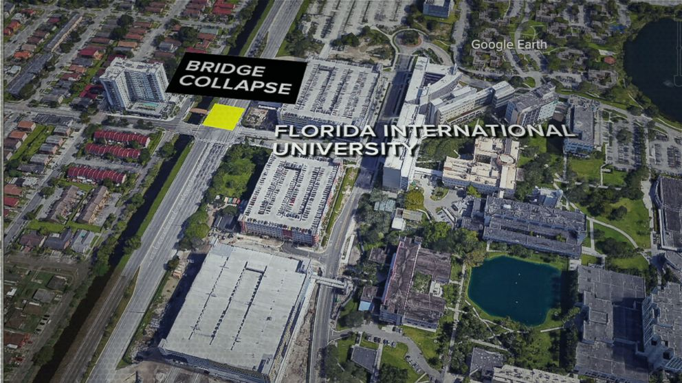 A pedestrian bridge on the campus of Florida International University in Miami collapsed on March 15, 2018.