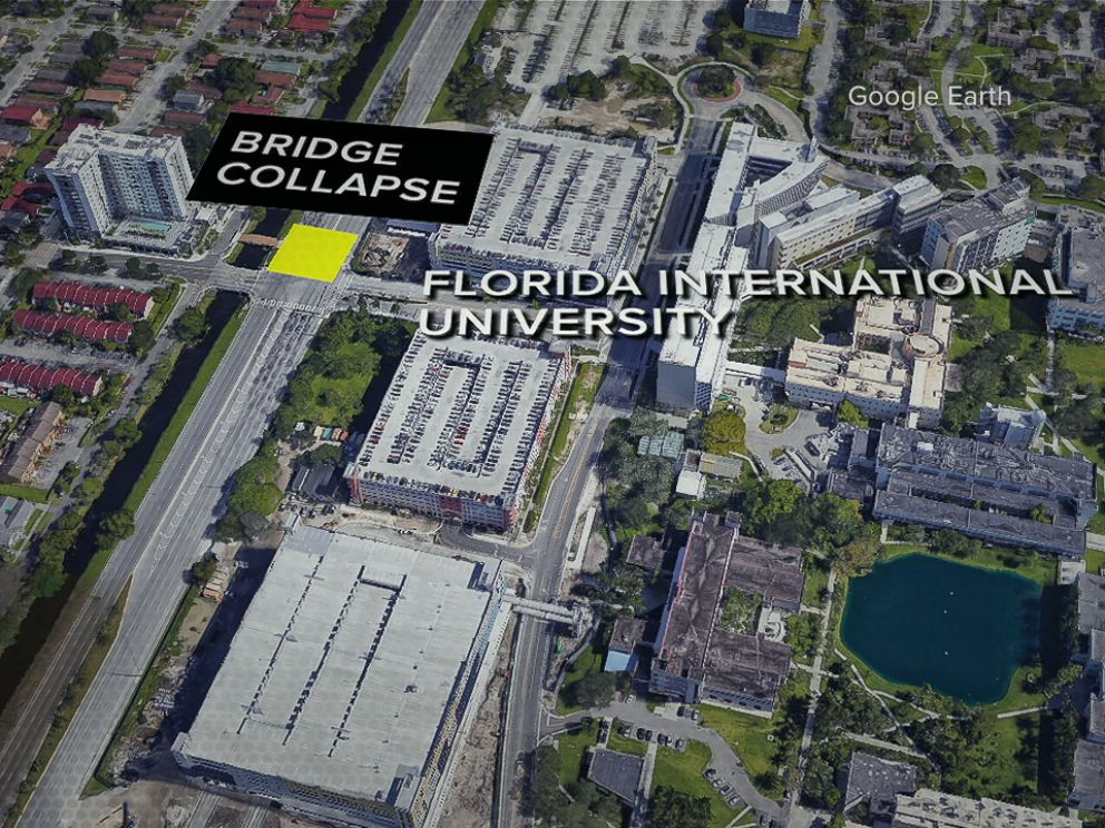 Map Of University Of Florida.Fiu Bridge Collapse At Least 4 Killed After Pedestrian Bridge At