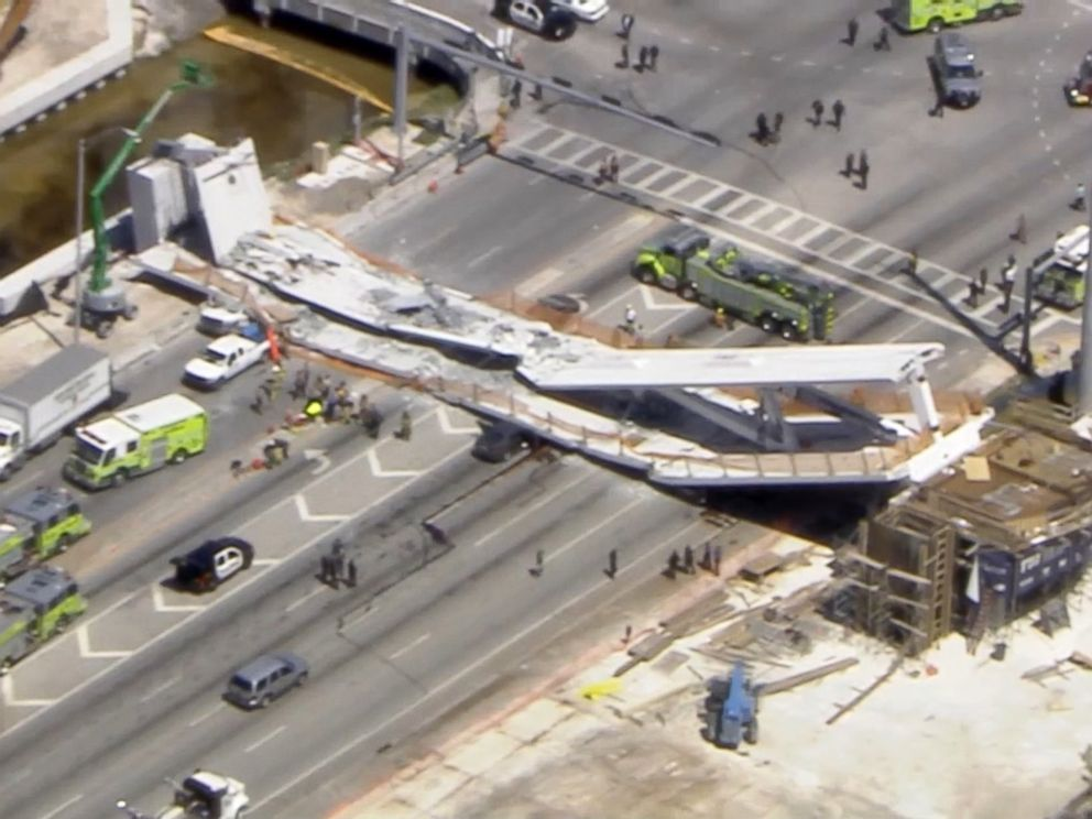 Florida U pedestrian bridge collapses