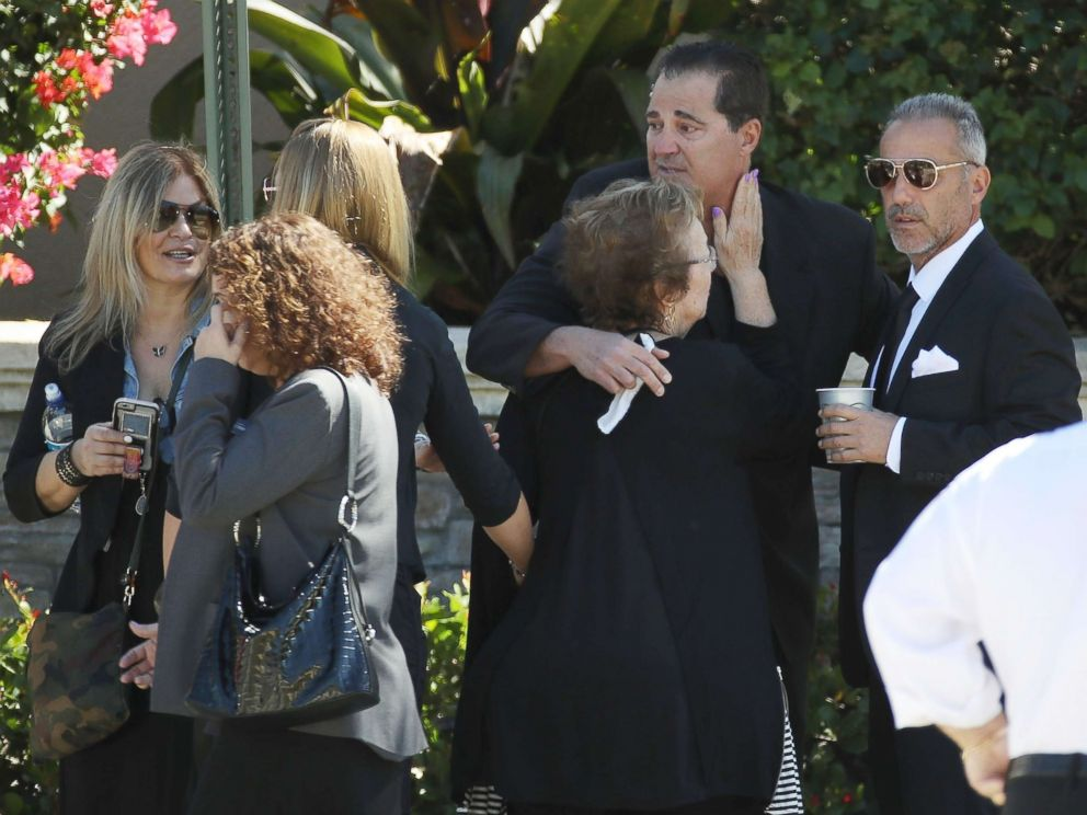PHOTO: Family and friends gather for the funeral service for Meadow Pollack at the Jewish congregation Kol Tikvah, Feb. 16, 2018, in Parkland, Fla.
