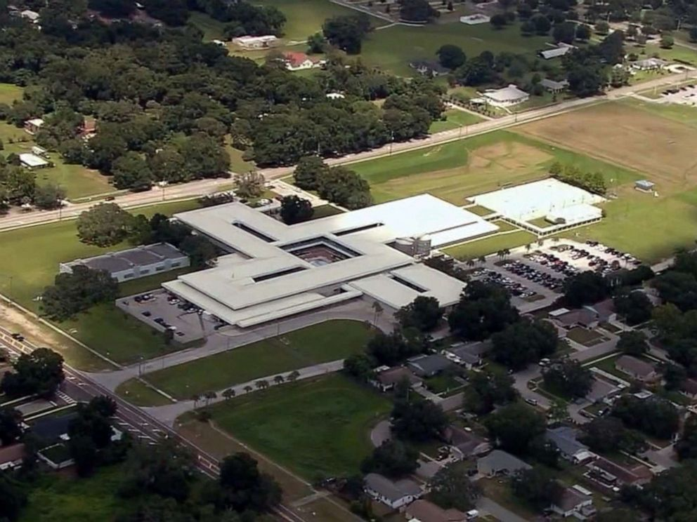 PHOTO: Burns Middle School in Brandon, Fla., is pictured in an image made from aerial video on Aug. 22, 2019.