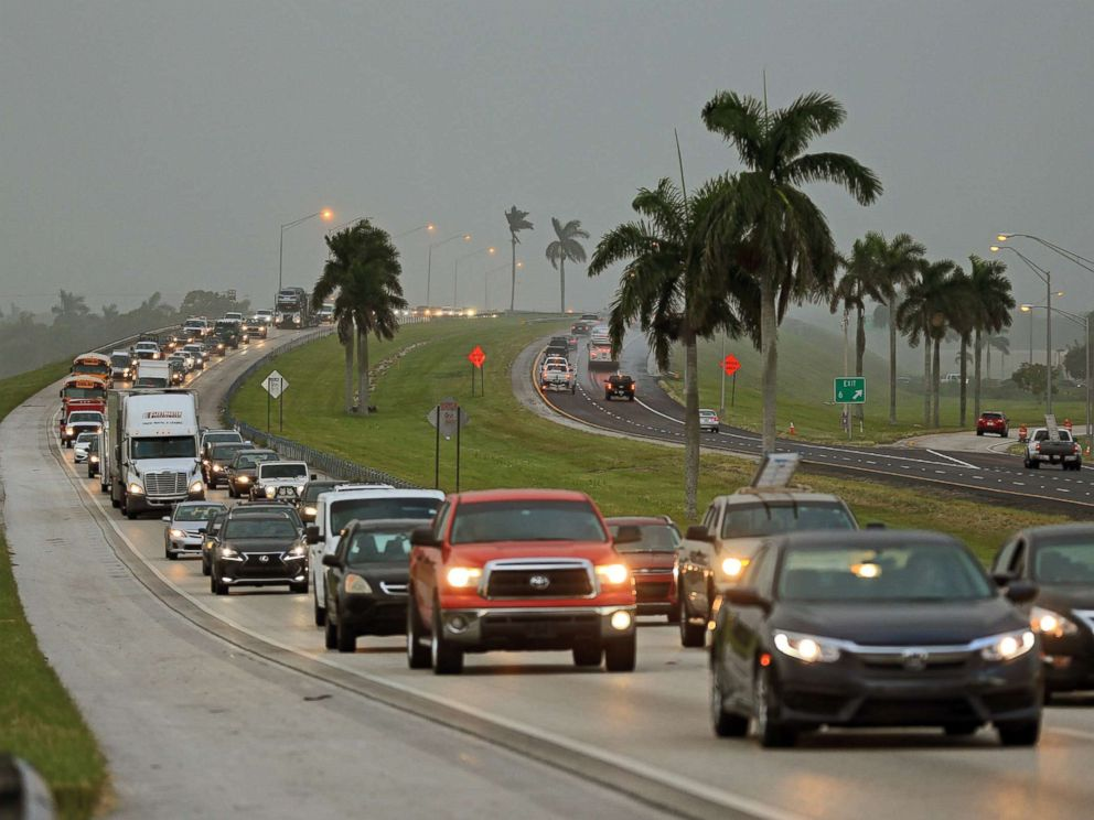 PHOTO: Traffic heads north along the Florida Turnpike near Homestead as tourists in the Florida Keys leave town, Sept. 6, 2017 in this file photo.
