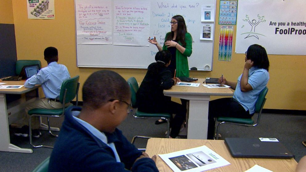 Students at the Arial Community Academy in Chicago, Illinois, are getting financial literacy lessons with the non-profit curriculum creator Foolproof.