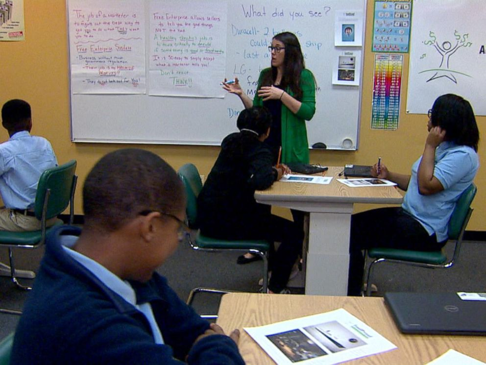 PHOTO: Students at the Arial Community Academy in Chicago, Illinois, are getting financial literacy lessons with the non-profit curriculum creator Foolproof.