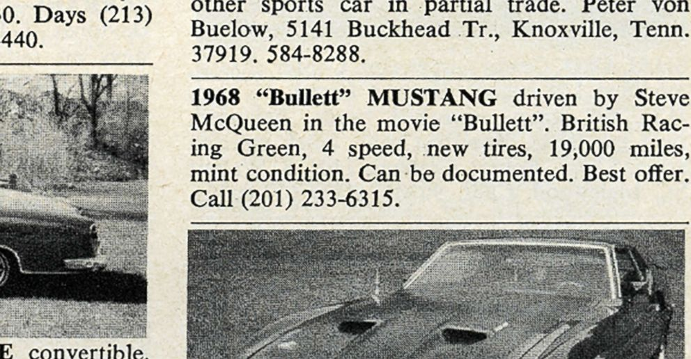 PHOTO: Robert Kiernan was the only person to respond to the Mustang ad. He purchased the car for $6,000.