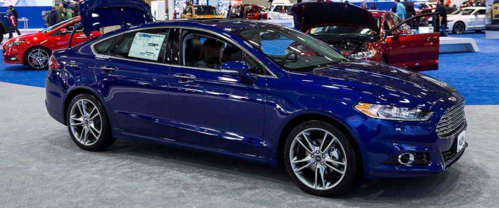 Photo A 2016 Fusion In The Ford Booth At Washington Auto Show Jan