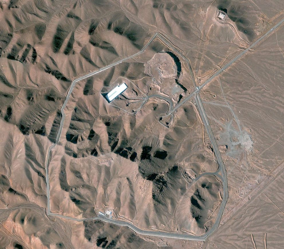 PHOTO: This is a satellite image of the Fordow facility in Iran.