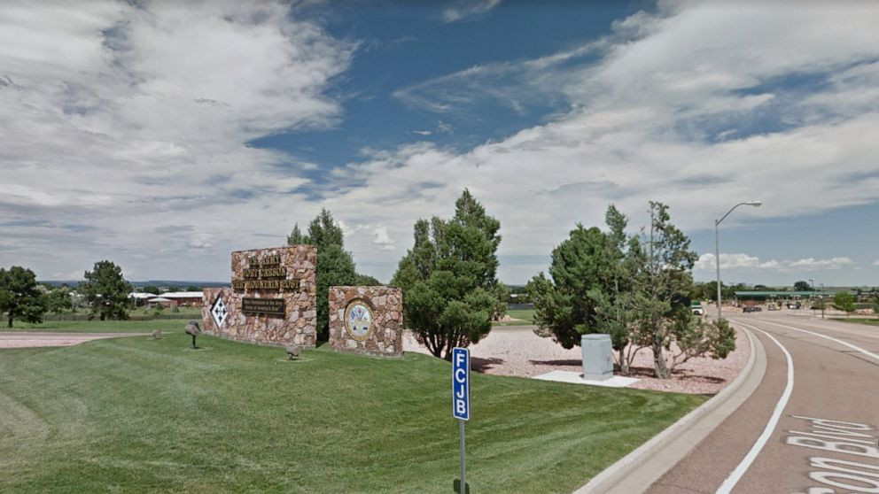 Fort Carson army base in Colorado in a 2015, image from Google maps.