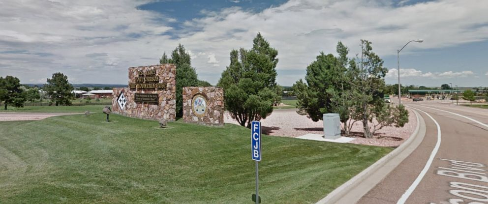PHOTO: Fort Carson army base in Colorado in a 2015, image from Google maps.