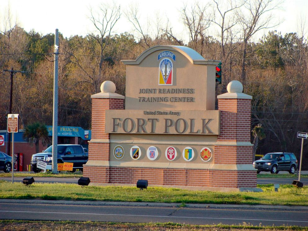 PHOTO: A sign marks the entrance of the Fort Polk Joint Readiness Training Center in Fort Polk, La., Feb. 22, 2012.