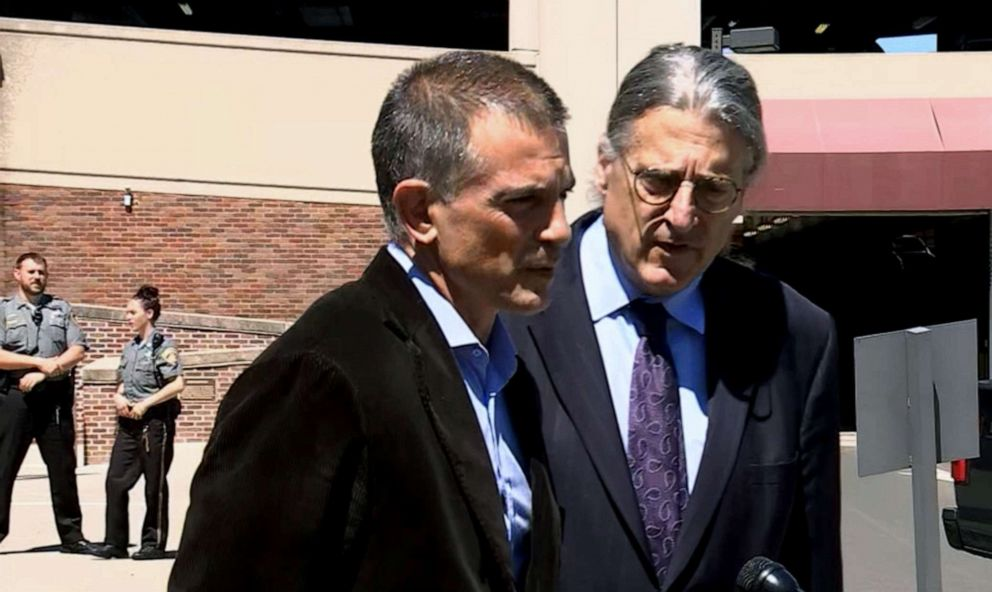 PHOTO: Fotis Dulos spoke to the media after court on June 26, 2019 in Connecticut.