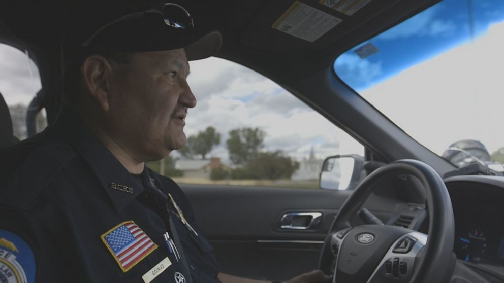 PHOTO: Frank Goings is one of just 17 tribal police officers tasked with patrolling the 1.5 million acre reservation – an area larger than the entire state of Delaware.