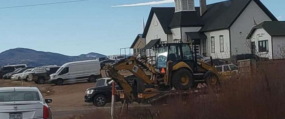 PHOTO: Authorities brought in an excavator to begin digging on the property of Patrick Frazee in Florissant, Colo., on Saturday, Dec. 15, 2018. Frazees fiancee has been missing for 24 days.