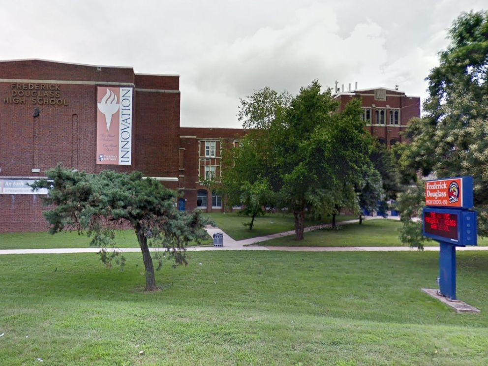 PHOTO: Frederick Douglass High School in Baltimore is pictured in a Google Maps Street View image, circa July 2018.