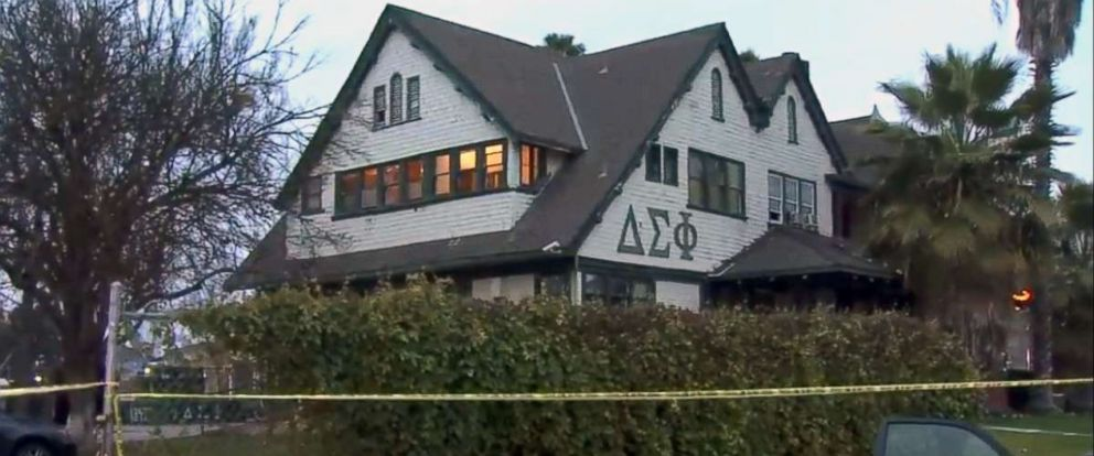 PHOTO: The Cal State University Fresno Delta Sigma Phi fraternity house in Fresno, CA, where a student was found dead.