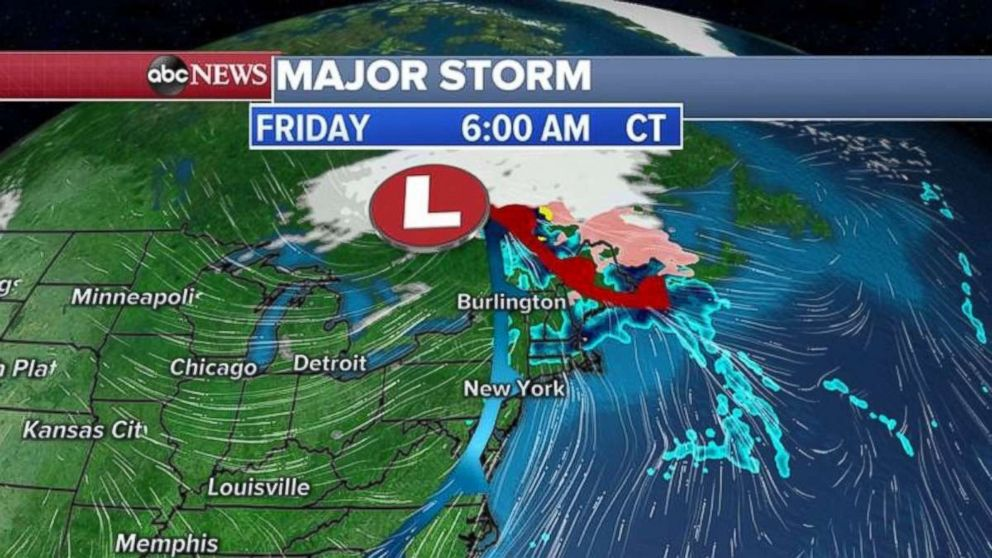 There will be rain and some ice in New England on Friday morning.