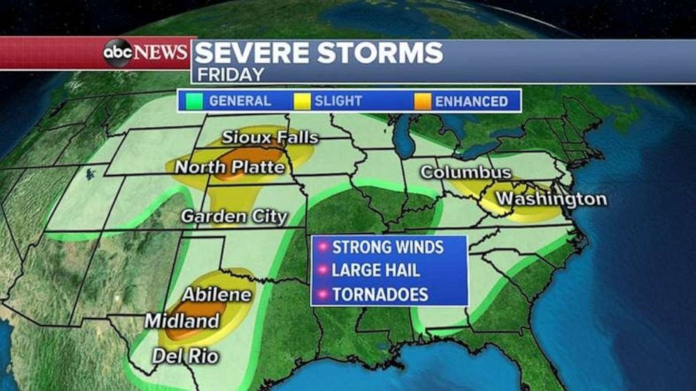 Scattered storms today, some could be severe