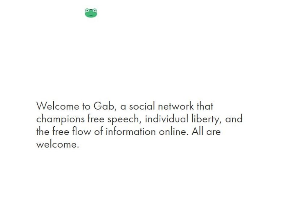 PHOTO: A screenshot from Gab is seen here.