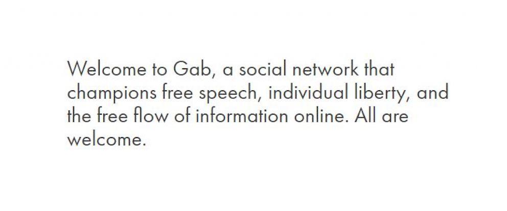 PHOTO: A screenshot from Gab is seen here.