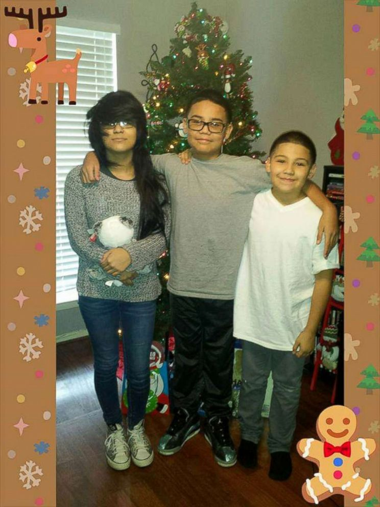 PHOTO: Jennifer Valdez said that her son Gabe, 13, seen in this undated photo with siblings, was fatally shot while hanging out at a friends house on Saturday Jan. 19, 2019.