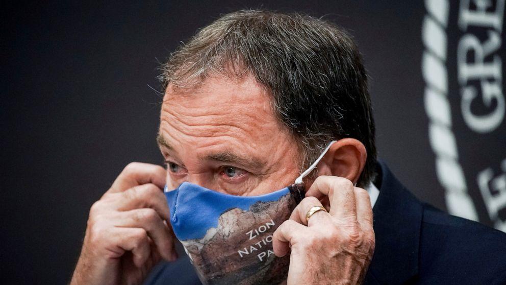 Utah Gov. Gary Herbert declares state of emergency mandates masks to fight COVID – ABC News