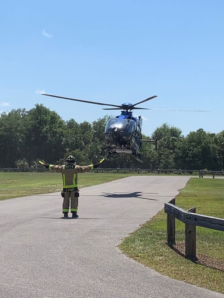 PHOTO: A woman was attacked by an alligator in Brevard County, Fla., on Saturday, May 25, 2019. She was seriously injured and flown to an area hospital.