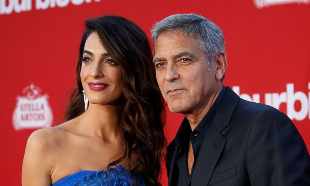 PHOTO: George Clooney and his wife Amal attend the premiere for Suburbicon in Los Angeles, Oct. 22, 2017.