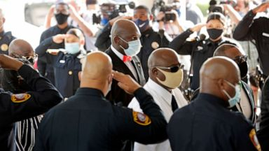 Family Members Dignitaries Honor George Floyd At Funeral Service In Houston Abc News