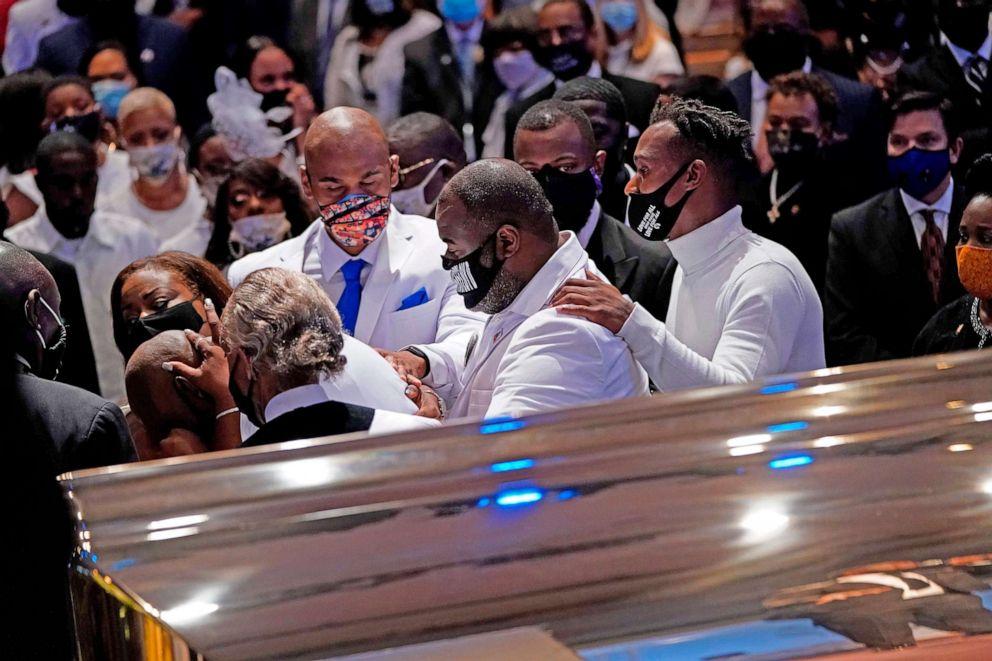 Family members, dignitaries honor George Floyd at funeral service ...