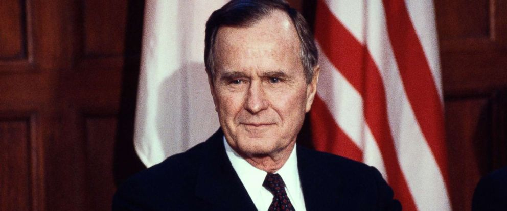 PHOTO: President George Bush listens to a reporters question during a press conference in Ottawa, Canada, circa March 1991.