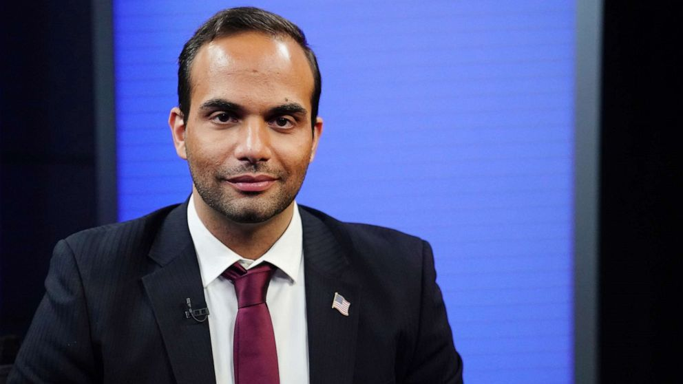 PHOTO: In this March 26, 2019, file photo, George Papadopoulos, a former member of the foreign policy panel to Donald Trump's 2016 presidential campaign, poses for a photo before a TV interview in New York.