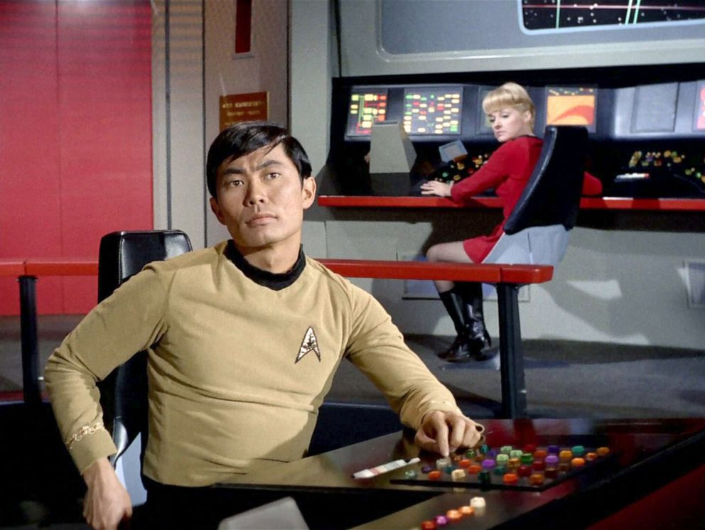 PHOTO: George Takei, as Hikaru Sulu, in the episode, Assignment: Earth of the Star Trek original series.