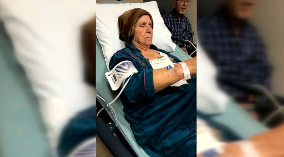 PHOTO: Martha Al-Bishara, 87, shown recovering in the hospital after police officers used a taser on her when she didnt obey commands to drop a knife in her hand. Relatives claim that she doesnt speak english.