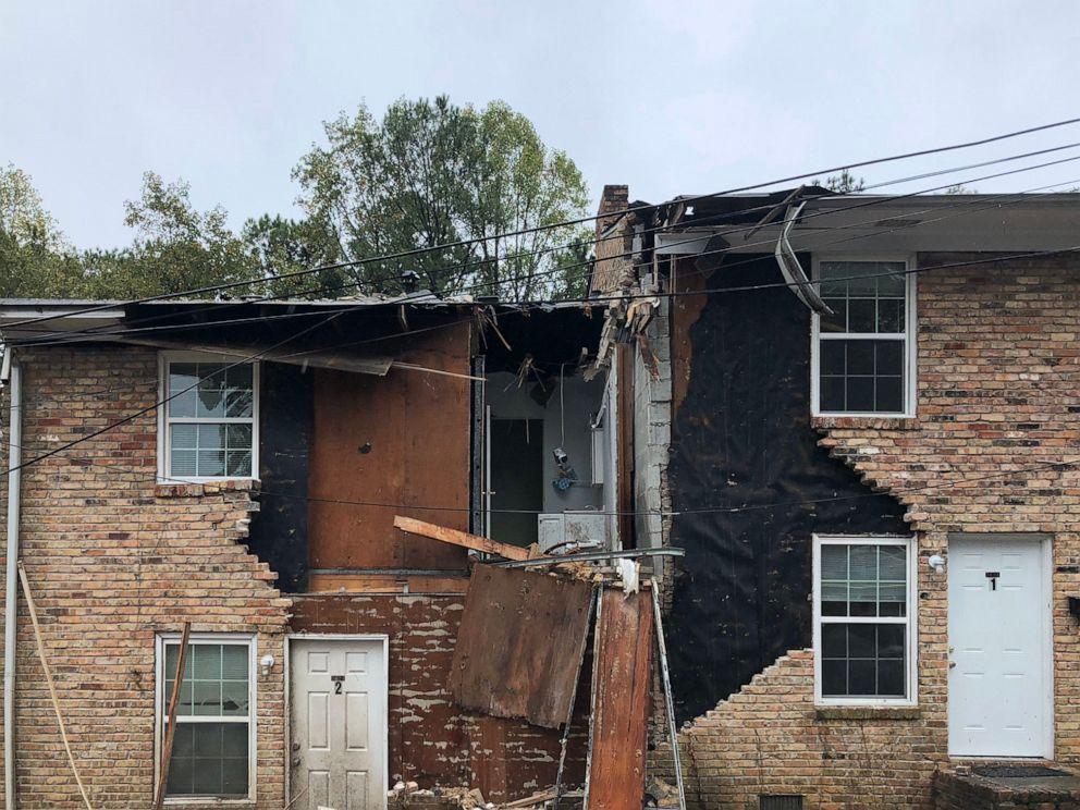 PHOTO: The DeKalb County Fire Rescue Department released this photo after a plane crashed into a residential building in Dekalb County, Ga., Oct. 30, 2019.