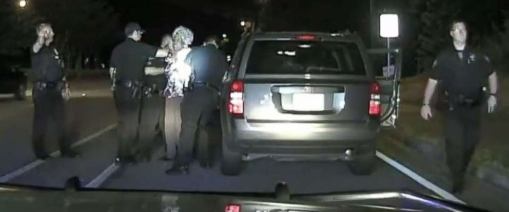 A 65-year-old Georgia woman was dragged from her vehicle at a traffic stop.