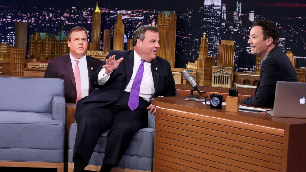 New Jersey governor Chris Christie during an interview with Jimmy Fallon on April 1, 2016.