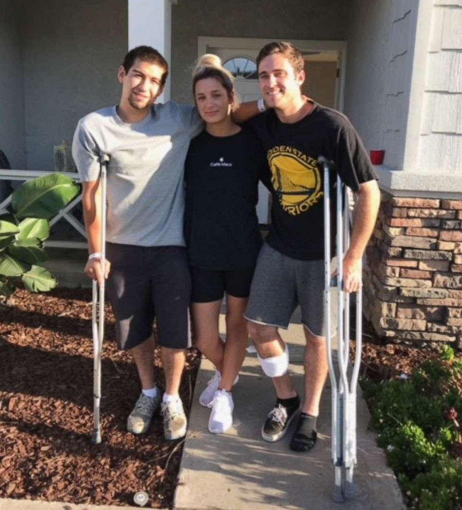 PHOTO: Justin Bates, Sarah Ordaz and Nick McFarland survived the Gilroy Garlic Festival shooting but suffered some injuries.