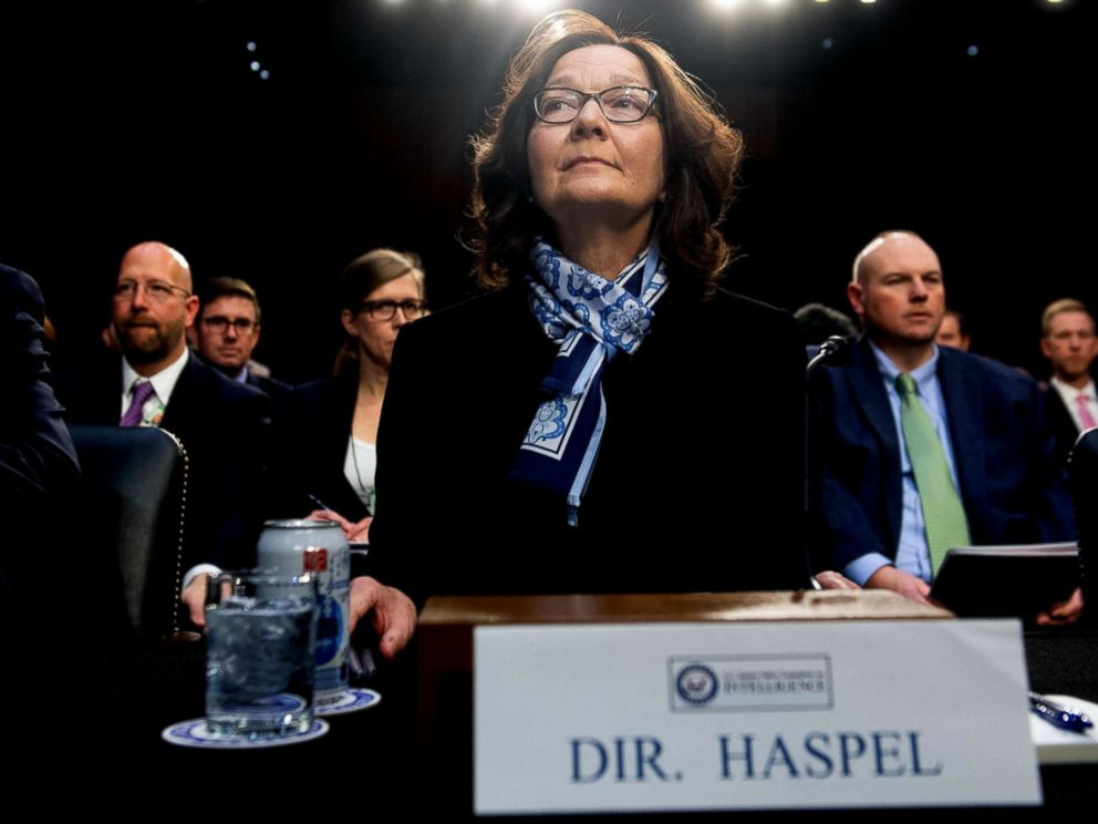 PHOTO: Gina Haspel, director of the Central Intelligence Agency testifies on Worldwide Threats during a Senate Select Committee on Intelligence hearing on Capitol Hill in Washington, D.C., Jan. 29, 2019.