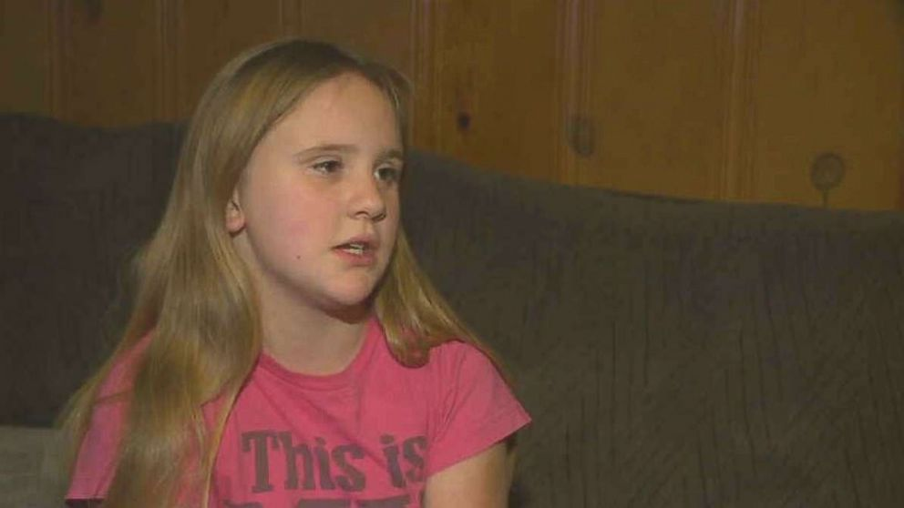 Kirsten Cox, 10, of Swanton, Ohio, was made to walk to school by her father after she was suspended for bullying.