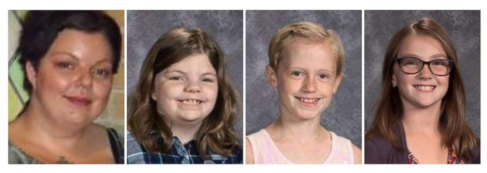 PHOTO: From left, Sara Jo Schneider and her daughter Haylee Hickle, along with fellow Girl Scouts Jayna Kelley and Autumn Helgeson were killed in a hit-and-run in Wisconsin, Nov. 3, 2018, while picking up trash along a highway.