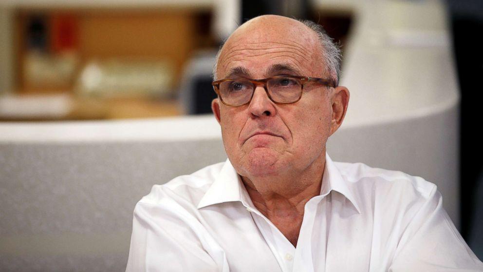 Rudy Giuliani visits the Hadassah Medical Center in Jerusalem, June 7, 2018.