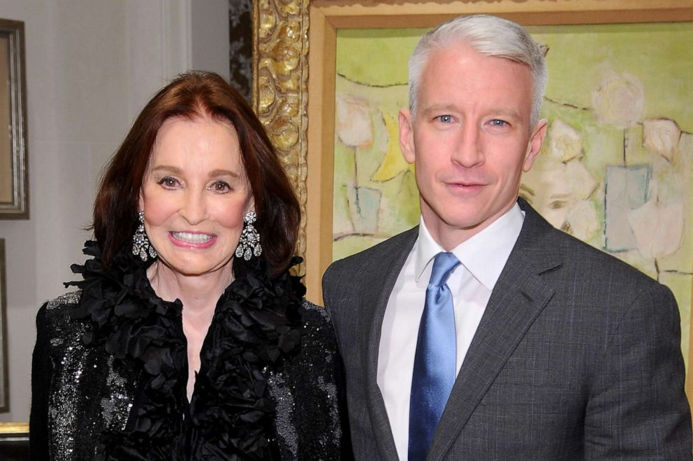 PHOTO: Gloria Vanderbilt and Anderson Cooper attend the launch party for The World Of Gloria Vanderbilt at the Ralph Lauren Womens Boutique, Nov. 4, 2010, in New York.