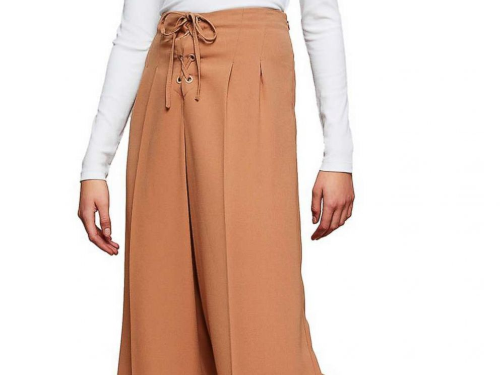2742293af0 PHOTO: These Miss Selfridge Lace-Up Wide-Leg Trousers in a camel color