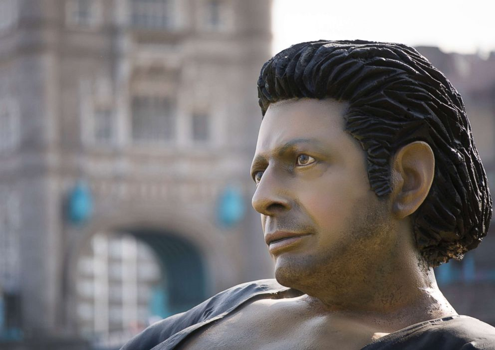 Giant, Bare-Chested Jeff Goldblum Appears in London Park