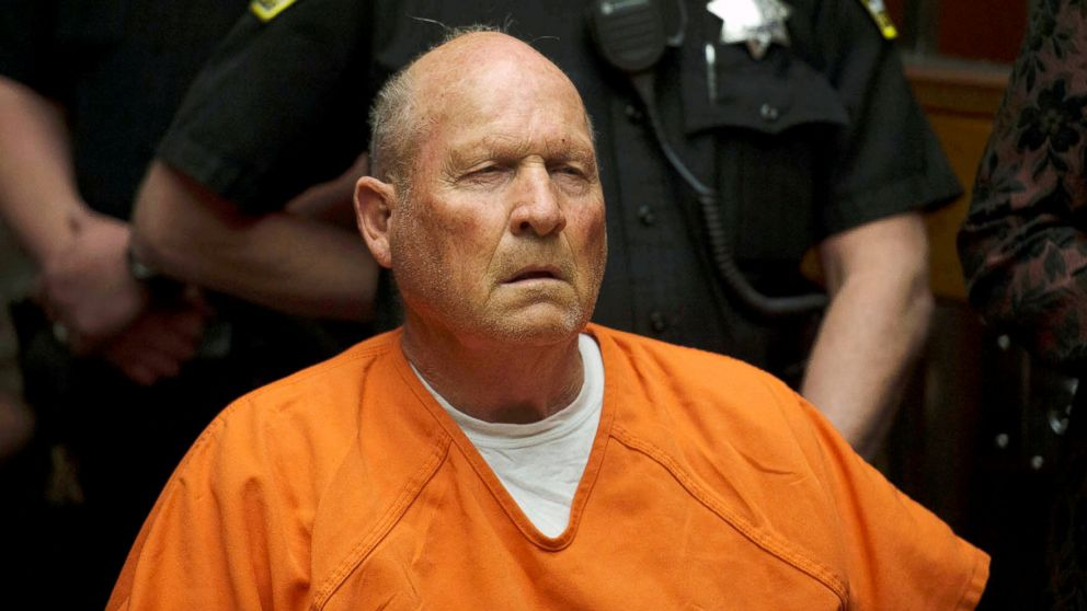 Joseph DeAngelo, 72, who authorities said was identified by DNA evidence as the the Golden State Killer, appears at his arraignment in Sacramento, Calif., April 27, 2018.