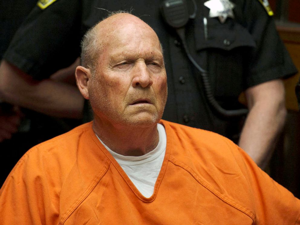 PHOTO: Joseph DeAngelo, 72, who authorities said was identified by DNA evidence as the the Golden State Killer, appears at his arraignment in Sacramento, Calif., April 27, 2018.