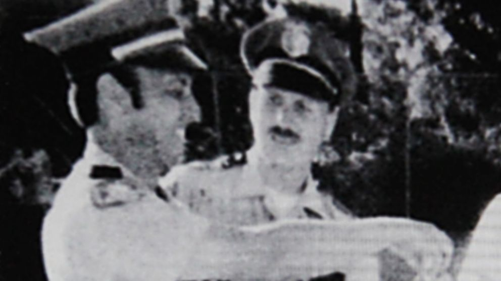 """Suspected """"Golden State Killer,"""" Joseph James DeAngelo is the police officer on the right in a photo from 1979."""