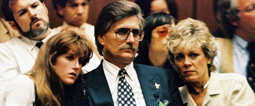PHOTO: Fred Goldman, father of Ronald Goldman, his daughter Kim and wife Patty listen to testimony during a preliminary hearing following the murders of Ronald and O.J. Simpsons ex-wife Nicole Brown Simpson July 7, 1994 in Los Angeles.