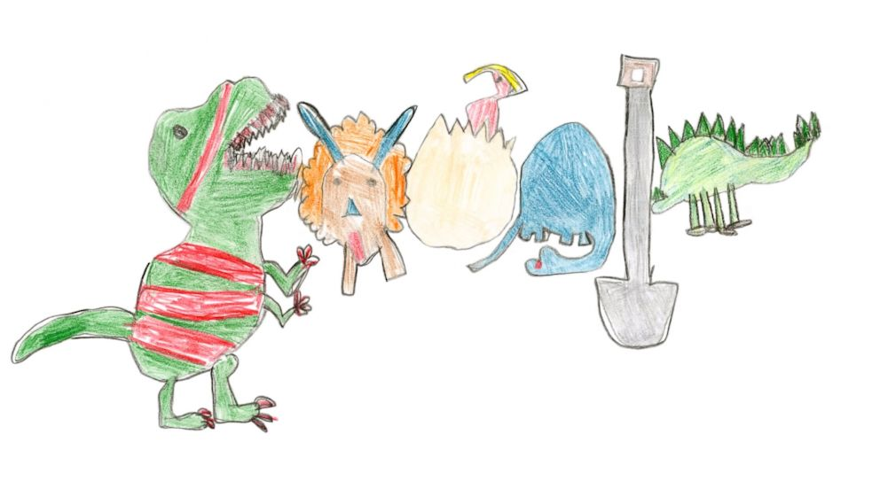 Second grader wins $30,000 college scholarship for dino Google Doodle